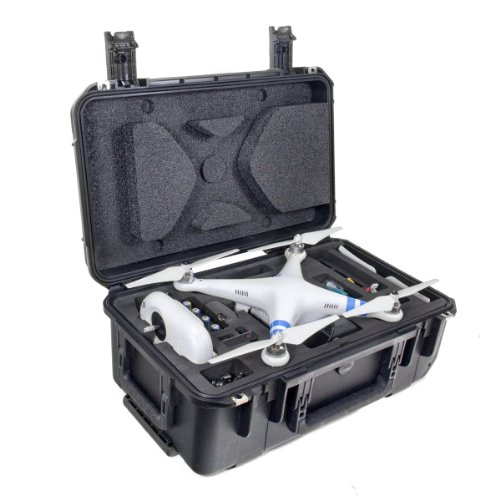"CasePro CP-PHAN-CO1 DJI Phantom Quadcopter/GoPro Carry-On Hard Case, 22"" Length, 14.75"" Width, 9.5"" Height, Black"