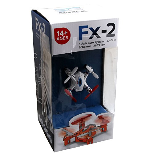 UTO Drone FX2 Mini Quadcopter Nano Quad Copter RC Helicopter Ready to Fly Toys 2.4Ghz 5 Channel 6 Axis Gyro Headless Model