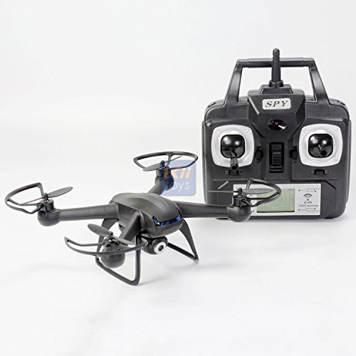 Spy Drone with Camera Quadcopter X007 - Best Drones on sale - 2MP HD Camera 720p, 6 Axis Gyroscope, Long Lasting Battery, 3D Flip Roll, 4 Ch 2.4 ghz Long Range, 4GB SD Card - KiiToys USA Warranty