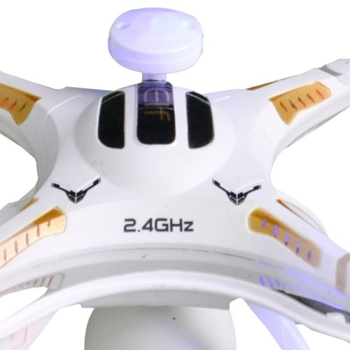 X106V 2.4G 6 Axis 4CH RC Quadcopter Drone with 5MP Camera, Support 360 Degree Rotation and 1080P Video(White)