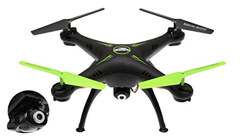 Hero RC XQ6 4 Ch 6-Axis Headless RC Quadcopter Drone RTF 2.4Ghz w/ HD Camera + 3 Batteries + 2 Set Blade + 4GB Memory Card (Black)
