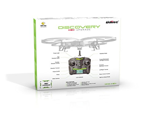 *Latest UDI 818A HD+ RC Quadcopter Drone with HD Camera, Return Home Function and Headless Mode* 2.4GHz 4 CH 6 Axis Gyro RTF Includes BONUS BATTERY (*Doubles Flying Time*) - USA TOYZ EXCLUSIVE!!